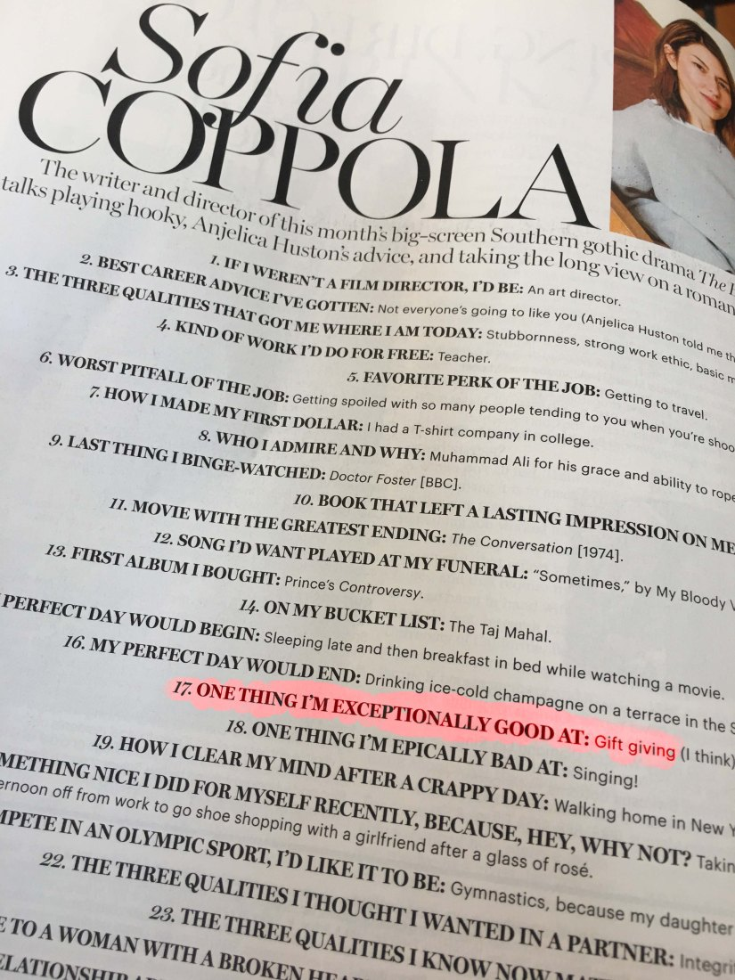 Sofia Coppola with highlights