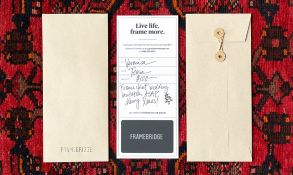 Framing Gift Card & Gallery